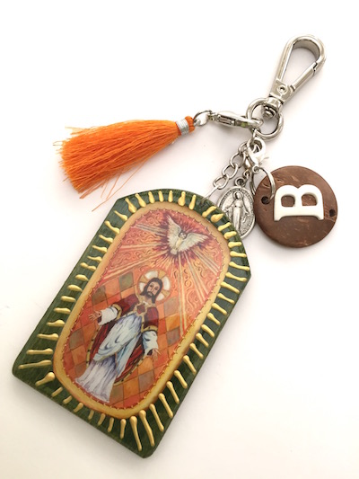 etsy-sacred-heart-leather-key-chain